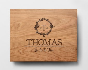 Personalized Cutting Board - Engraved Cutting Board, Custom Cutting Board, Wedding Gift, , Anniversary, Engagement, Housewarming Gift