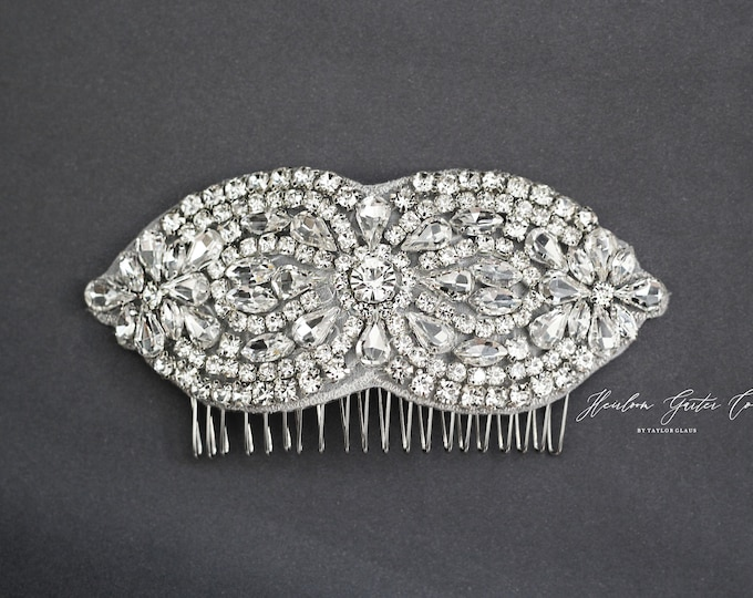 Wedding Hair Comb, Pearl and Rhinestone, Bridal Headpiece, Rhinestone Hairpiece, Bridesmaid, Hair Accessory, 44
