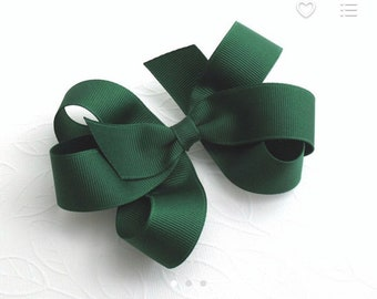 4 inch forest green pinwheel boutique bow