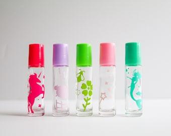 NEW! Set of 5 Girl's Roller Bottle Labels, Essential Oil Label, Roller Bottle Label, Aromatherapy Labels, Kid's Labels, Essential Oil Kid's,