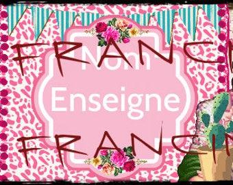 """"""""""" Creation of banner / header, """"Banner Frida Kahlo"""", vintage to your ETSY shop, or other design is handmade."""