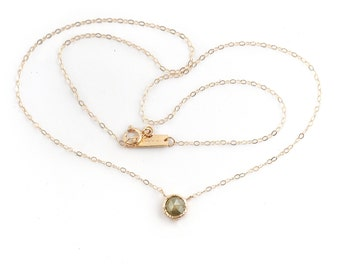 14k Diamond Choker Necklace | 14k yellow gold or 14k rose gold Diamond Necklace