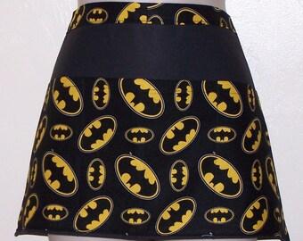 Handmade server waitress half apron Batman with three pockets 6602