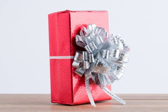 Gift Wrapping Service Add On - Red Mosaic Embossed Foil Gift Wrapping