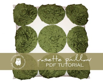 Rosette Pillow - PDF Tutorial