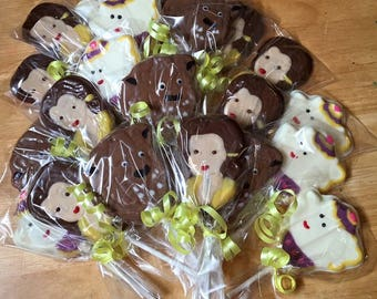 Beauty and The Beast Chocolate Lollipops