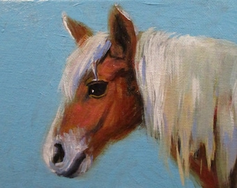 Fuzzy - original daily painting by Kellie Marian Hill