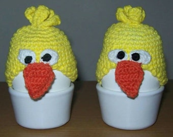Easter gift, Easter decorations, Easter egg covers, egg warmers, egg cozy, chicken egg hat, chicks cozies, crochet chick hat, Easter basket