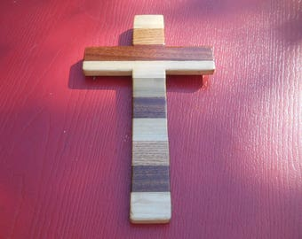 Handcrafted Laminated Wooden Hanging Wall Cross