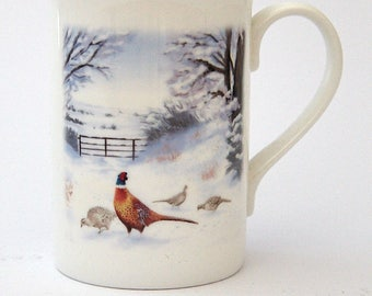 Pheasant Bone China Mug