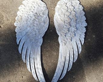 Metal Angel Wings Wall Decor  Shabby Chic Angel Wings