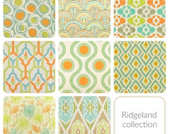 Etonnant Orange Lime Aqua Curtain Panels. All Sizes. Decorative Window Treatments.  Ridgeland Patterned Drapery