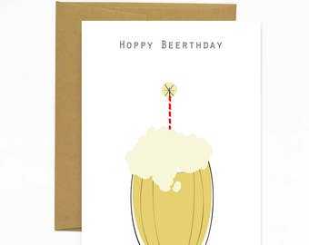 Hoppy Beerthday - Card
