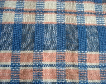 Kitchen towel, hand woven dish towel, hand towel, tea towel, all cotton, plaid