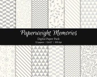 "Digital patterned paper - Misty Mornings -  digital scrapbooking - scrapbook paper - 12x12"" 300dpi  - Commercial Use"