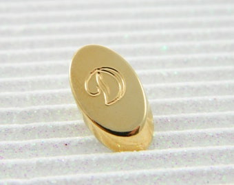"Gold Monogram ""D"" Lapel Pin - Personalized Initial ""D"" Tie Tack"