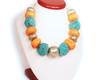 Berber-style necklace from original Moroccan beads #1