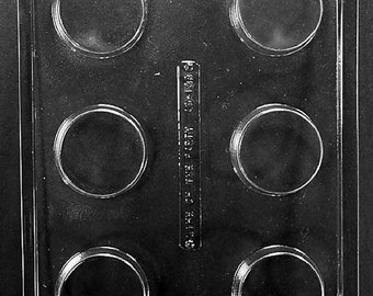 Plain Cookie Chocolate Candy Mold with Molding Instructions AO138