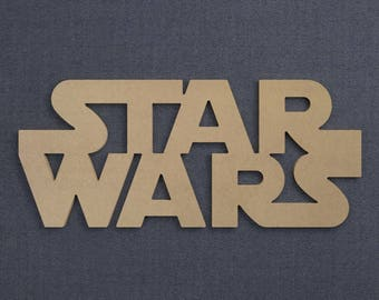 Star Wars Sign, Wood Cutout, Unfinished Sign