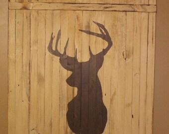 Distressed silhouette deer sign