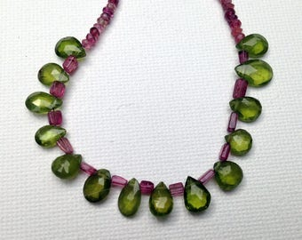 Preppy pink and green necklace
