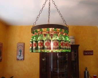 Coke crate chandelier beer bottle chandelier aloadofball Images