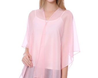 Pink Beach Cover Up/Swimsuit Cover Up(QH-320-7-04)