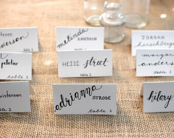 Classic Hand Calligraphed Custom Place Cards