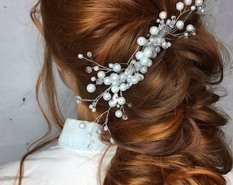 Babys breath hair accessories for bride FREE SHIPPING