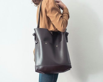Leather bag of Calf - color brown