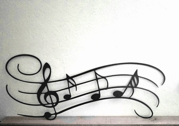 Music notes metal wall art musician gifts play musician wall