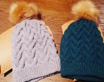 Wool Pompom Hat