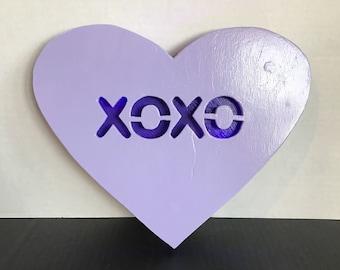 XOXO Conversation Heart Sign