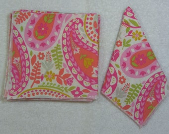 Everyday Eco Friendly Reusable Cotton Napkins 12 x 12 Set of 6 Ready to Ship