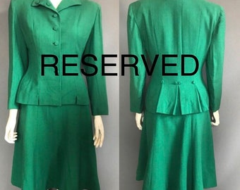 Green 1940s suit XS