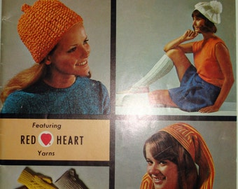 Vintage 1969 Coats & Clarks Socks Mittens and Accessories Knitting and Crochet Book No. 192