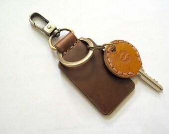 Leather Keychain, Mens Keychain,Key Tag, Custom Keychain, Personalized Leather Keychain, Custom Tag,Keyring, Keyfob, Bestman Gift, Keyholder