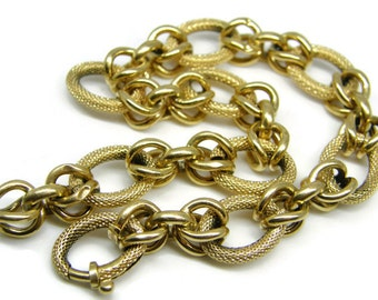 Nicolis Cola Vicenza Italy 18k Hollow Tube Hand Forged Chain Link Bracelet teamvintageusa ecochic team