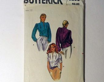Butterick 3295 Vintage Sewing Pattern Women's Blouse Button Front