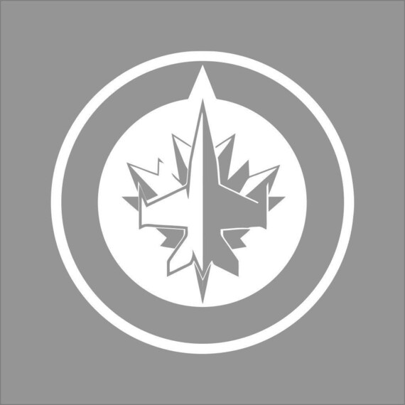 Winnipeg jets white vinyl decal