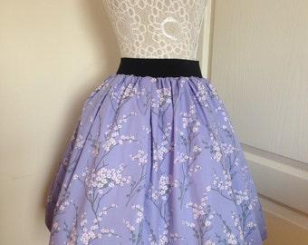 Ladies or girls Cherry blossom full skater style skirt