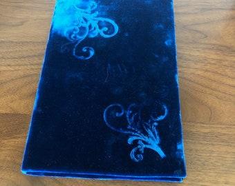 Vintage Velvet Dark Blue Journal