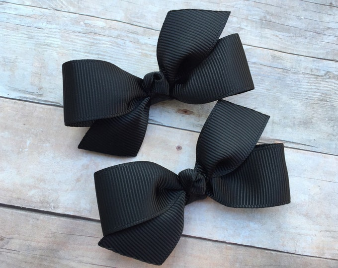 YOU PICK color pigtail bows - hair bows, bows, hair clips, hair bows for girls, baby bows, baby girl bows, baby hair clips, girls hair bows
