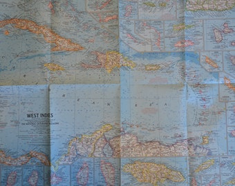 Two Authentic West Indies maps from 1954 and 1962
