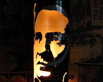 Johnny Cash Beer Can Lantern! Pop Art Portrait Lamp, The Man In Black - Unique Gift!