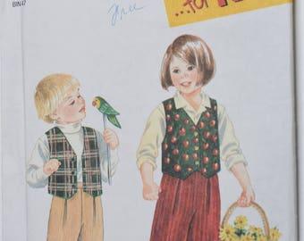 Vintage 1996 Simplicity Pattern 9266 Kids 2-6X