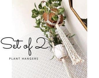 Macrame Plant Hanger,Two modern macrame for plant, interior, choose your pattern !