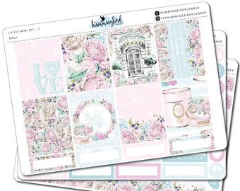 La Vie Mini Kit | MK21 | Planner Stickers for Erin Condren Vertical Planners - Physical Item | The Hummingbird Planner
