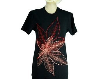 Black Japanese Momiji, Maple Leaves Summer T-Shirt, Men, Women, Unisex, Botanical, Gifts for Him or Her, Made in USA, Last One
