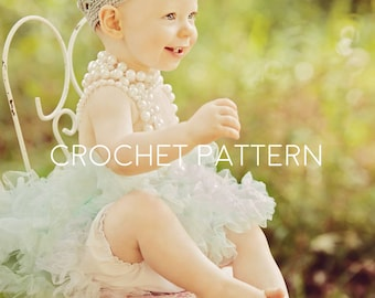 Crochet Crown Pattern - Crochet Pattern - Girl Crown - Princess Tiara - Photo Prop -Instant Download - Baby Crown - Child Crown - All Sizes